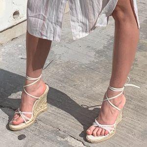 Aldo strap up sandals/heels